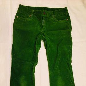 J Crew grass green corduroy pants. Used condition.